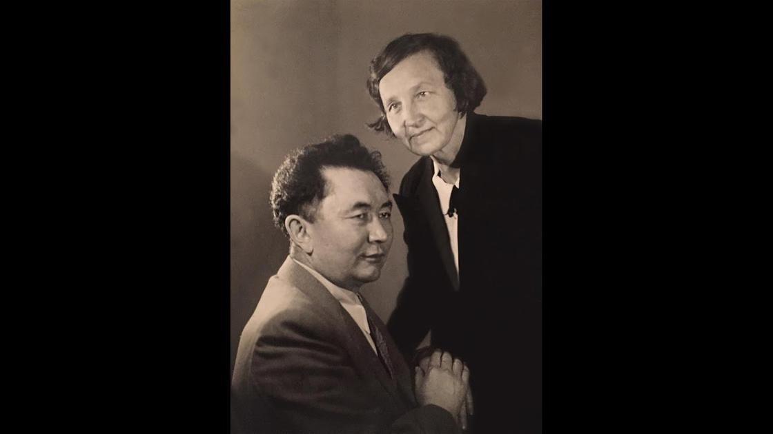 Каныш Сатпаев с супругой