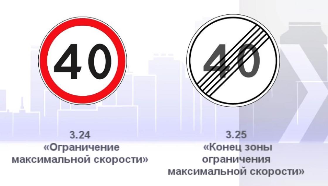 Знак, ограничивающий скорость до 40 км/ч