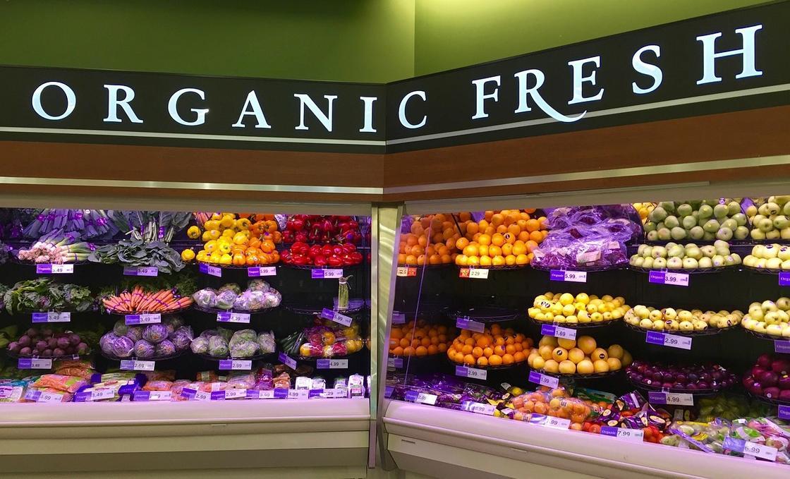 Органические фрукты и овощи