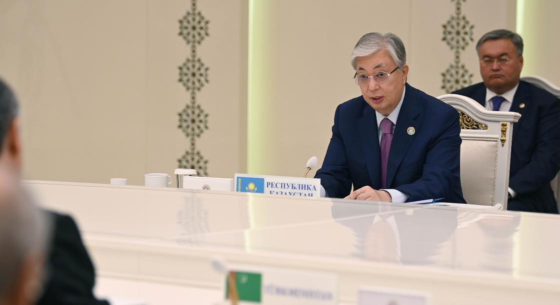 Касым-Жомарт Токаев участвует во встрече глав государств ЦА