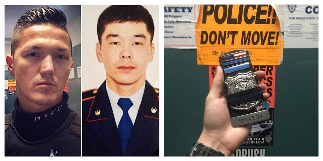 Полицеский из Нью-Йорка почтил память коллеги из Атырау, спасшего девушку (фото)