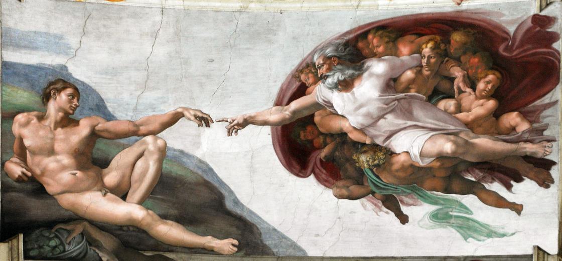 «Сотворение Адама» Микеланджело