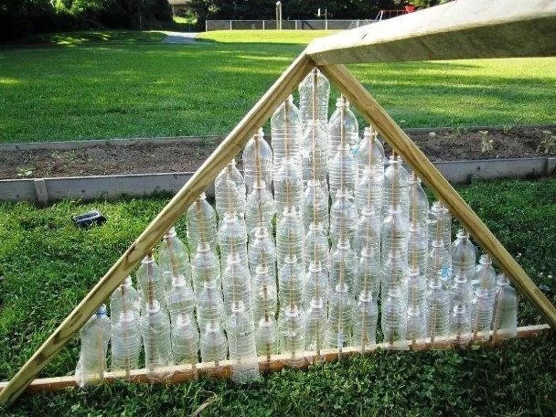 как сделать крышу теплицы из бутилок