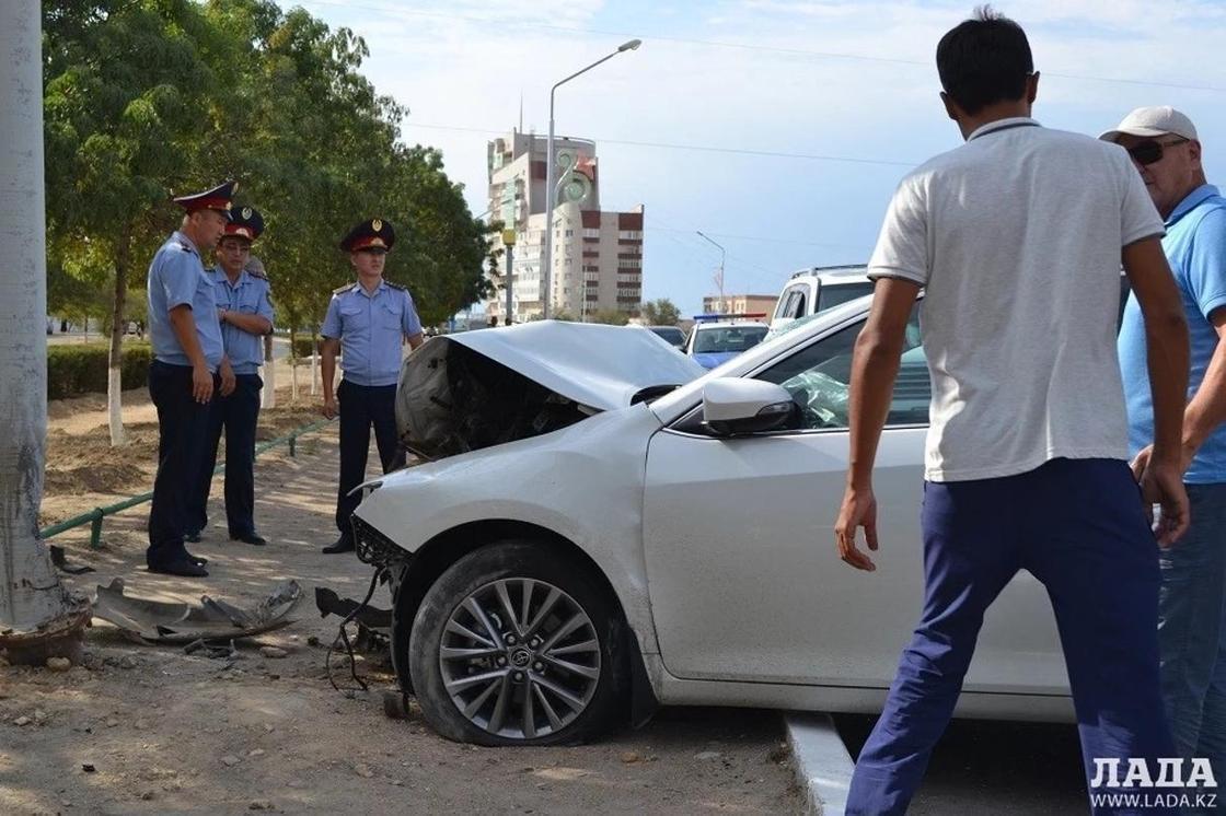 Массовое ДТП в Актау: пострадали пять человек (видео)