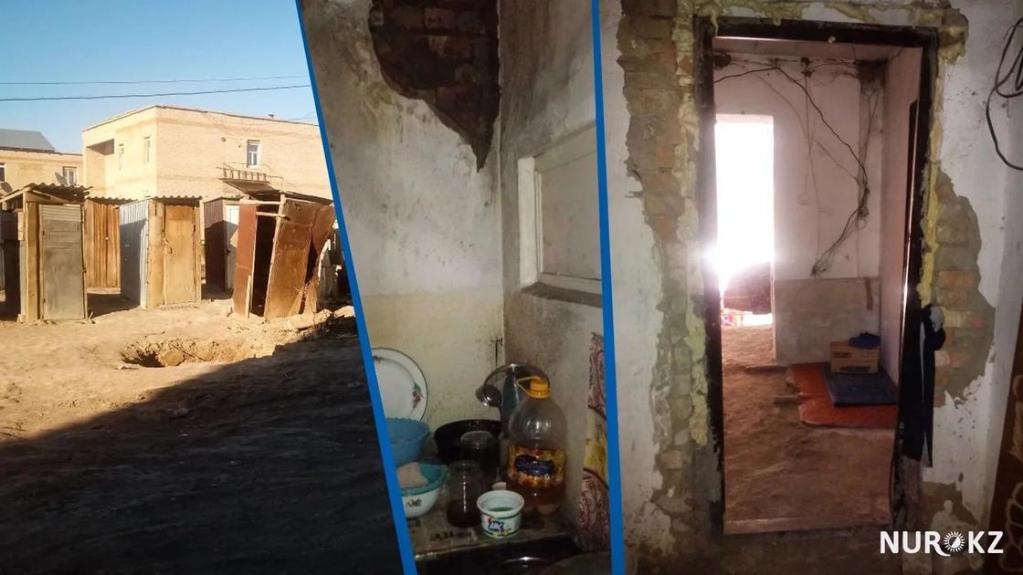 Жители многоквартирного дома в Кызылорде построили 50 туалетов во дворе (фото)