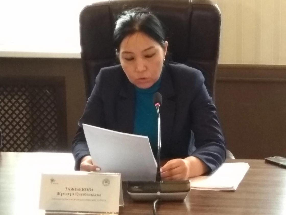 Член Общественного совета Жумагуль Тажибекова