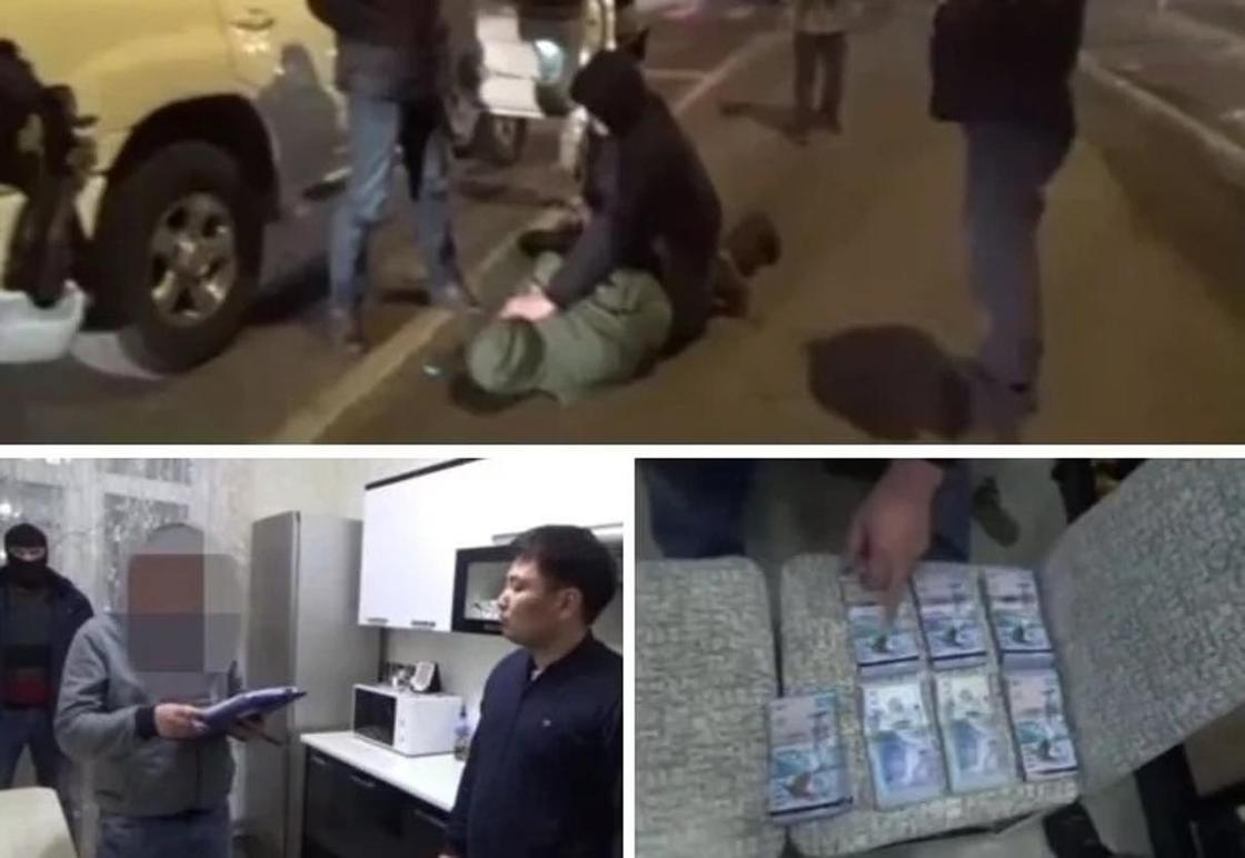 Высокопоставленные полицейские задержаны в Акмолинской области (видео)