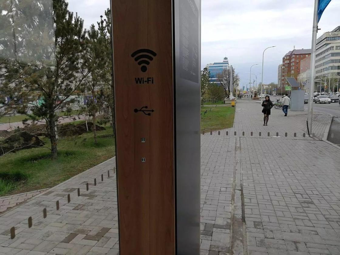 Теплая остановка с бесплатным Wi-Fi и зарядкой для телефонов появилась в Астане (фото, видео)