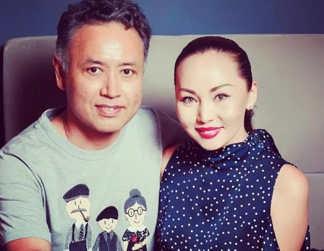 Баян Алагузова с мужем. Фото: Instagram