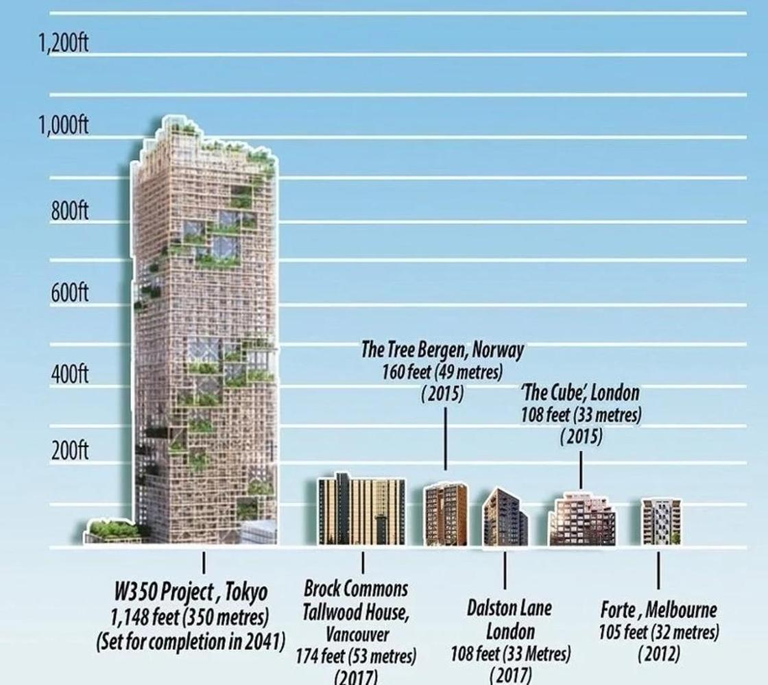 Японцы построят уникальный деревянный небоскреб за 6 млрд долларов