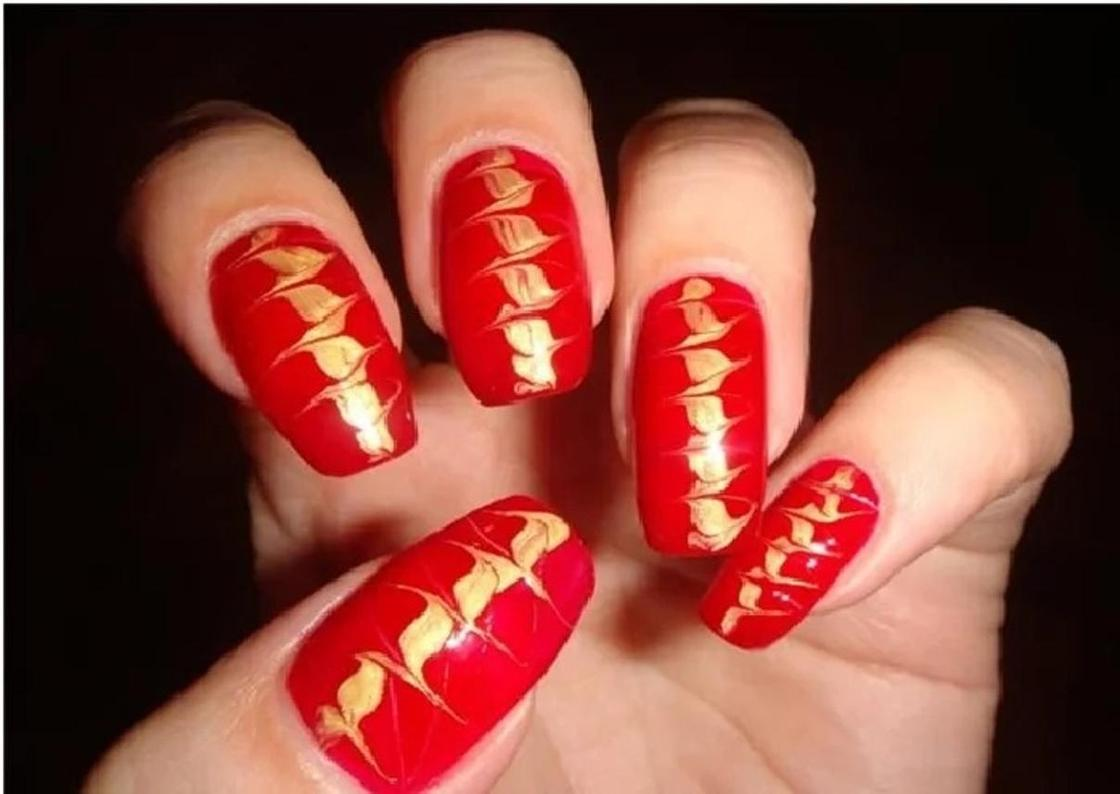 Простые рисунки на ногтях гель-лаком пошагово