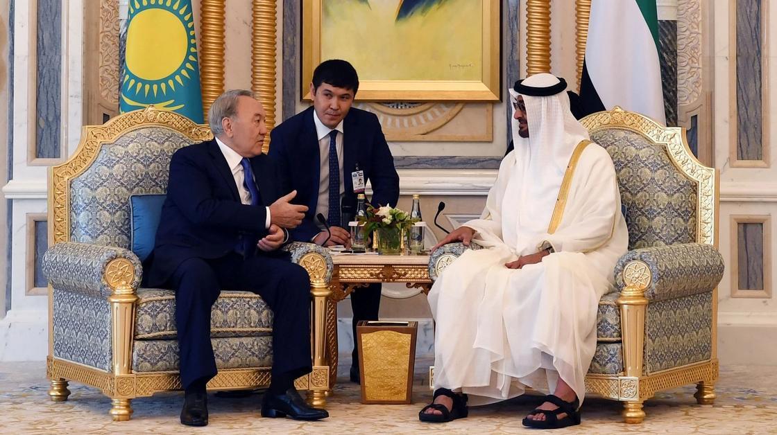 Нурсултан Назарбаев встретился с наследным принцем Абу-Даби в ОАЭ