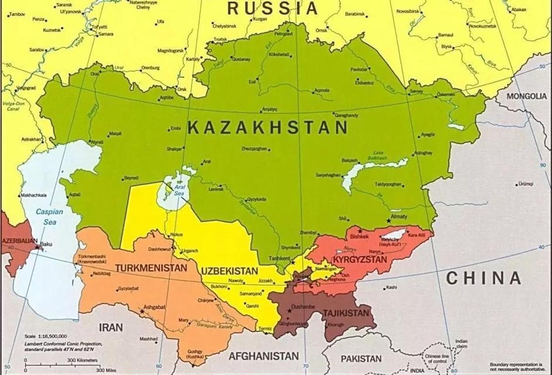 Где и с кем граничит Казахстан