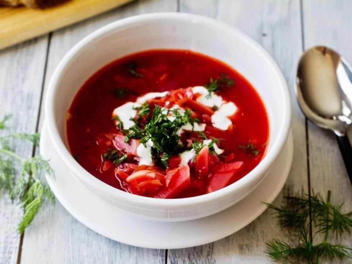 Борщ без мяса: рецепт с фасолью
