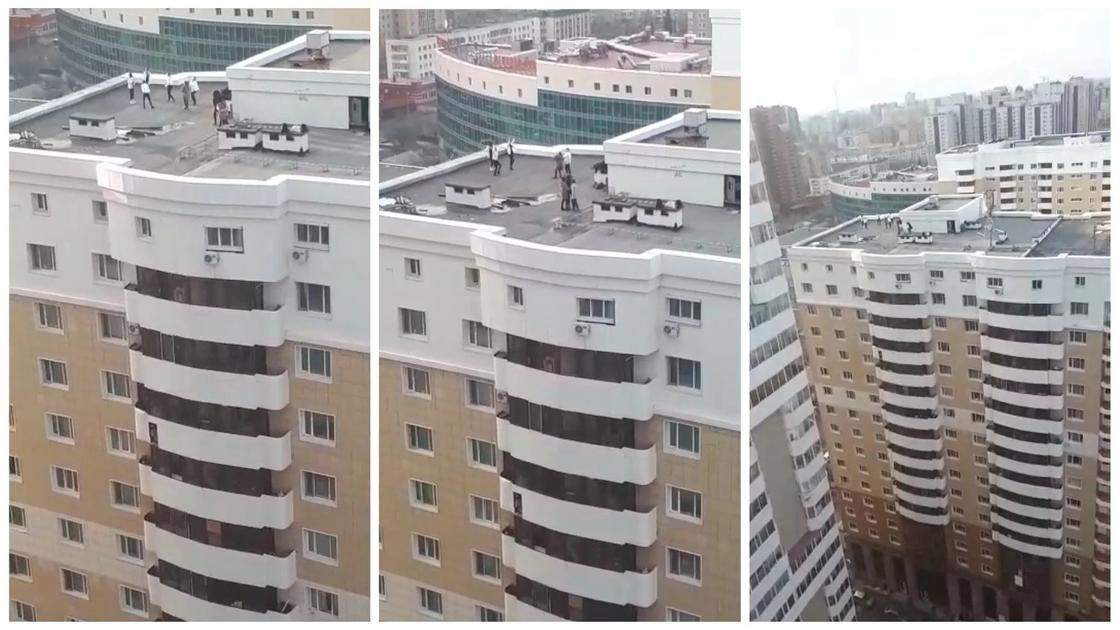 """ЖК """"Рахат"""", на крыше которого танцевали подростки состоит из 16 этажей"""
