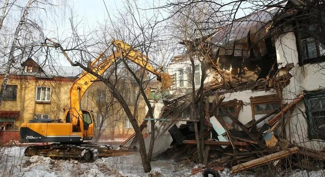 Появилась карта сноса ветхих строений в Алматы