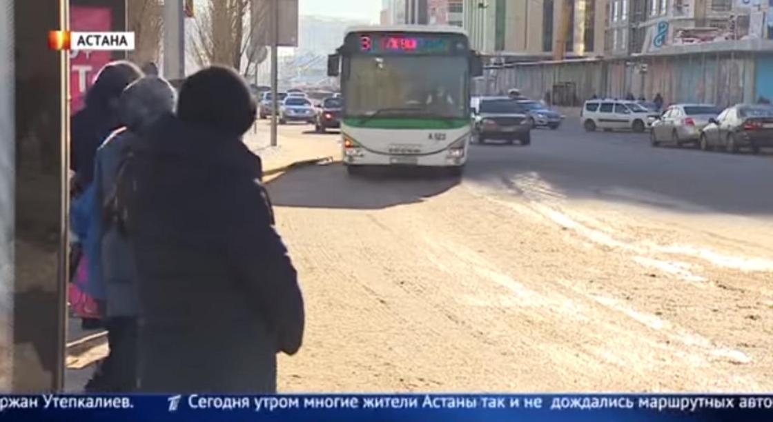 Водители автобусов в Астане устроили забастовку из-за задержки зарплаты