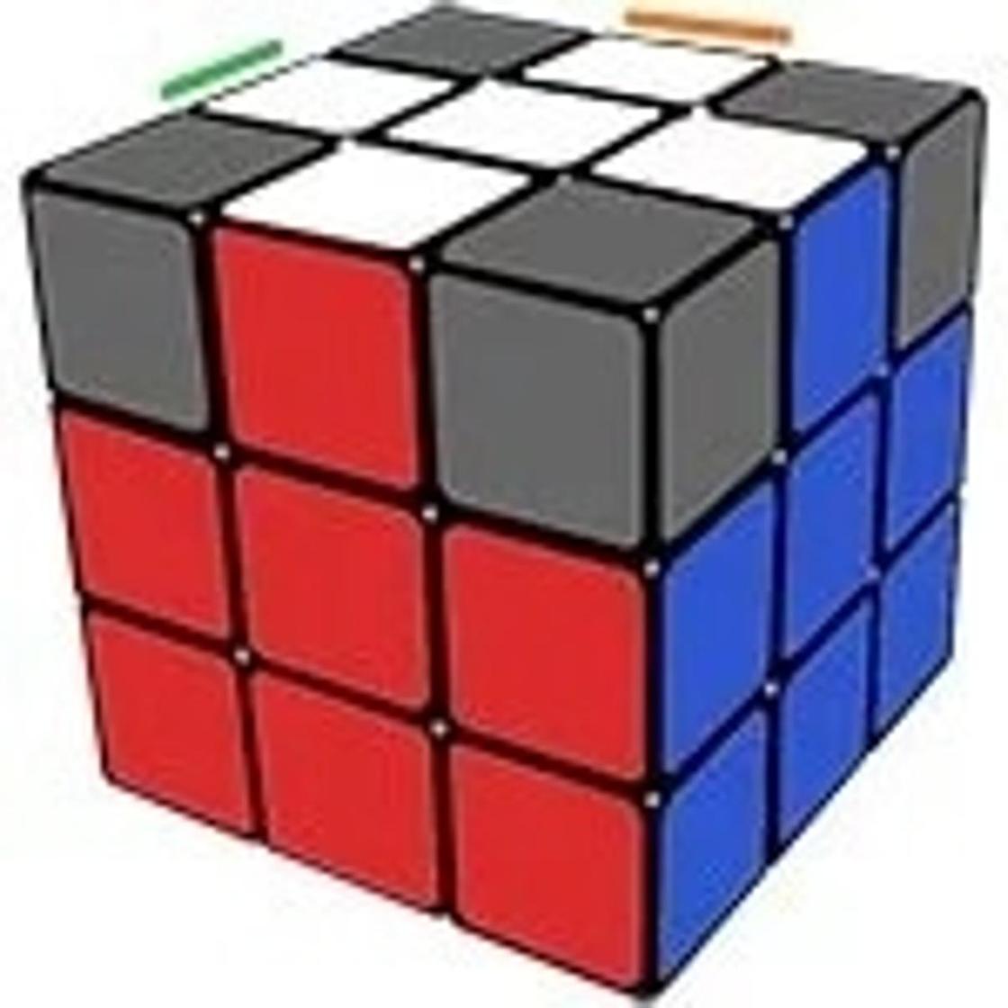 """правильный"" белый крест кубика Рубика"