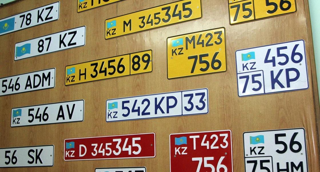 Выбрать номер на авто казахстанцы смогут за 6 734 тенге