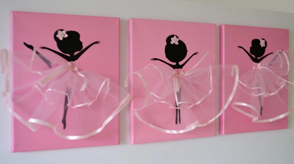 Балерина из бумаги: панно