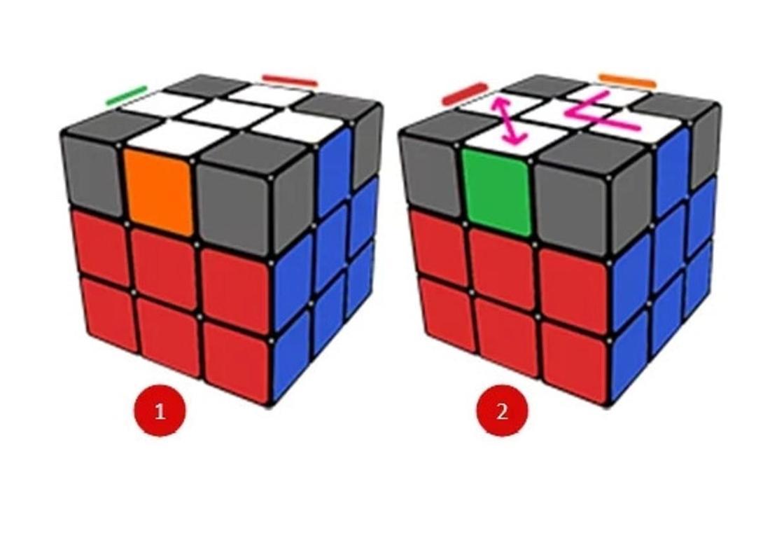 """Как собрать """"правильный"""" белый крест кубика Рубика"""