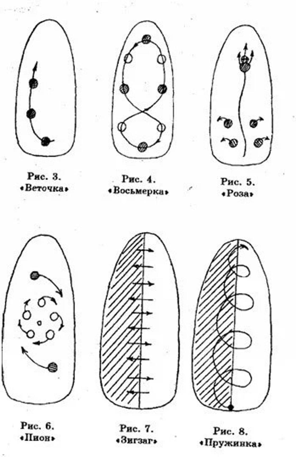 Маникюр френч с рисунком на безымянном пальце