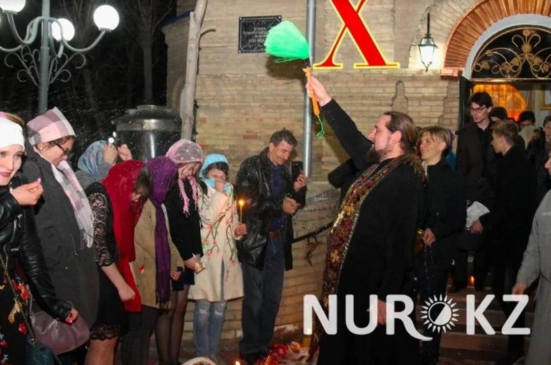 Как прошла Пасхальная ночь в Кызылорде (фото)
