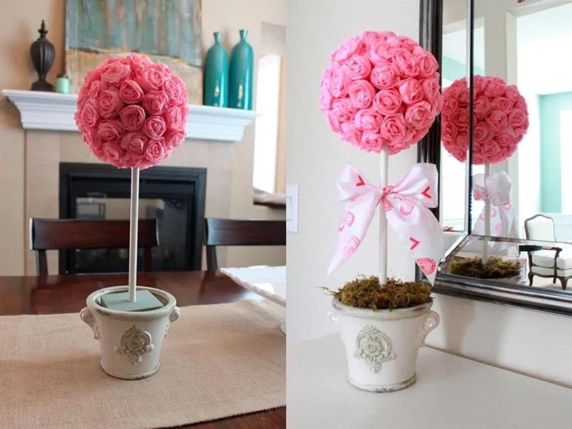 Как сделать цветы из гофрированной бумаги своими руками