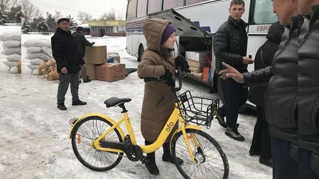 В отличии от личных, на велосипедах ofo охотно ездят зимой
