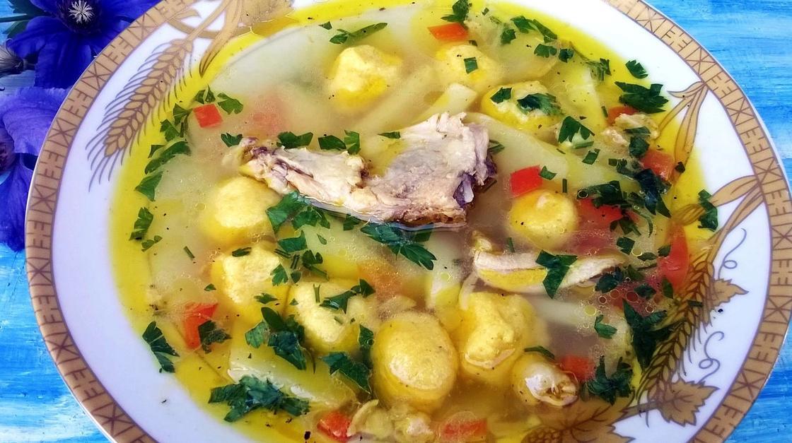 Суп с клецками: рецепт пошагово