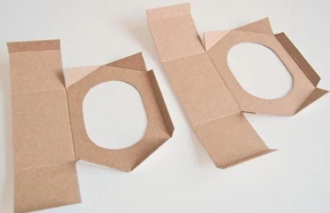 Кормушка для птиц из картона: заготовки