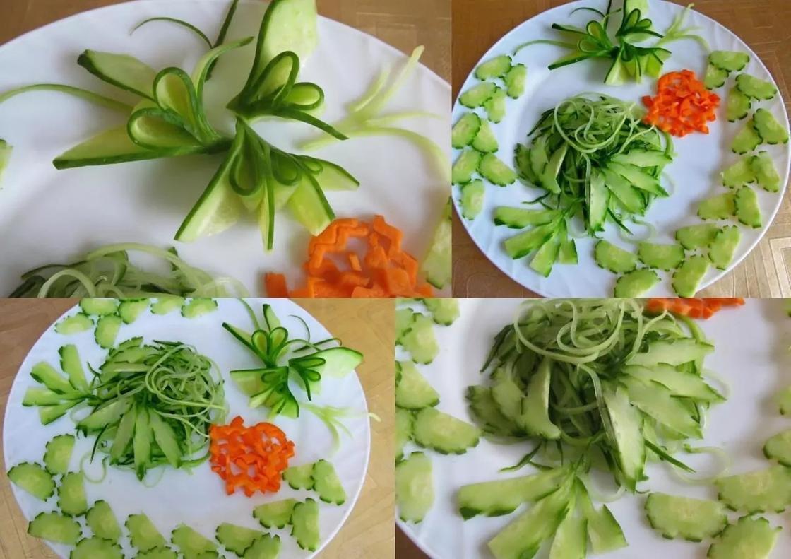 варианты украшения для праздничных салатов