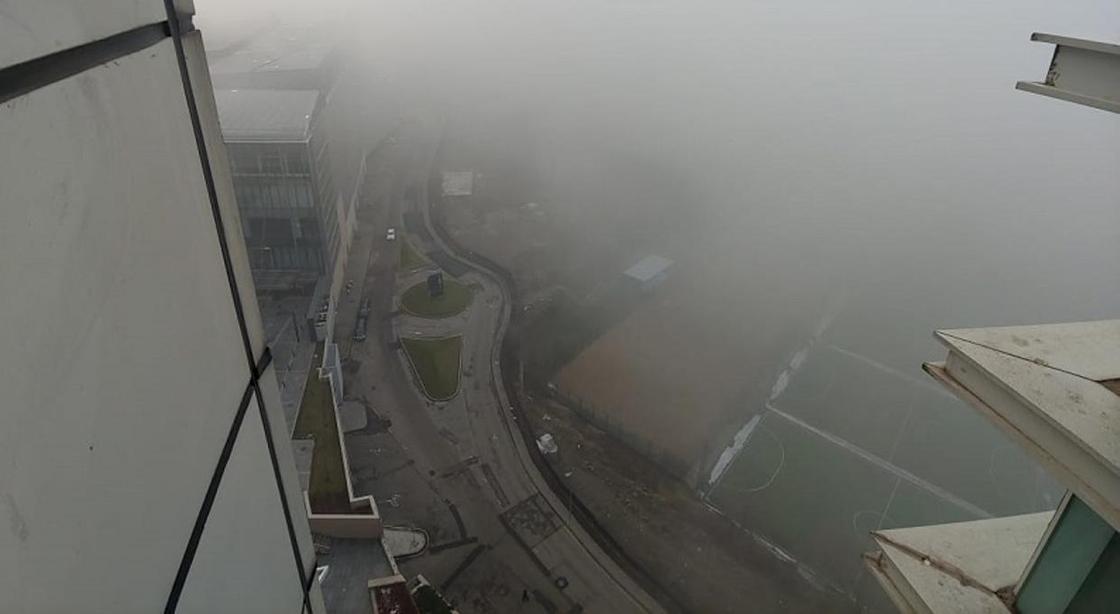 """""""Сайлент Хилл"""": Густой туман спустился на Алматы (фото)"""