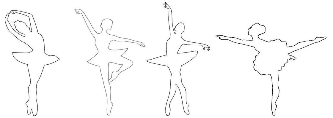 Трафареты балерин