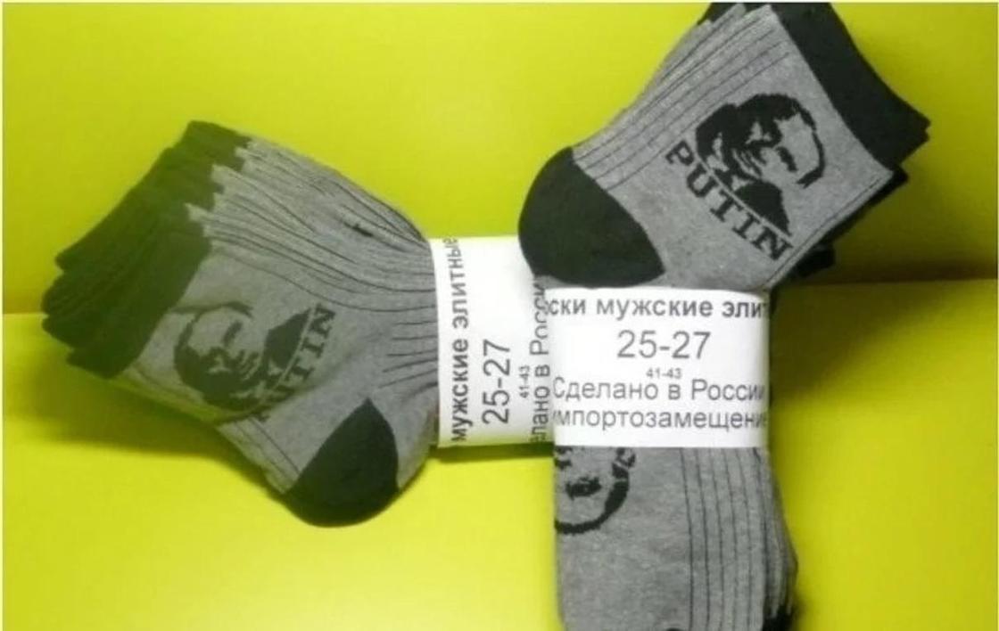 Трусы и ботинки с изображением Путина предложили его фанатам