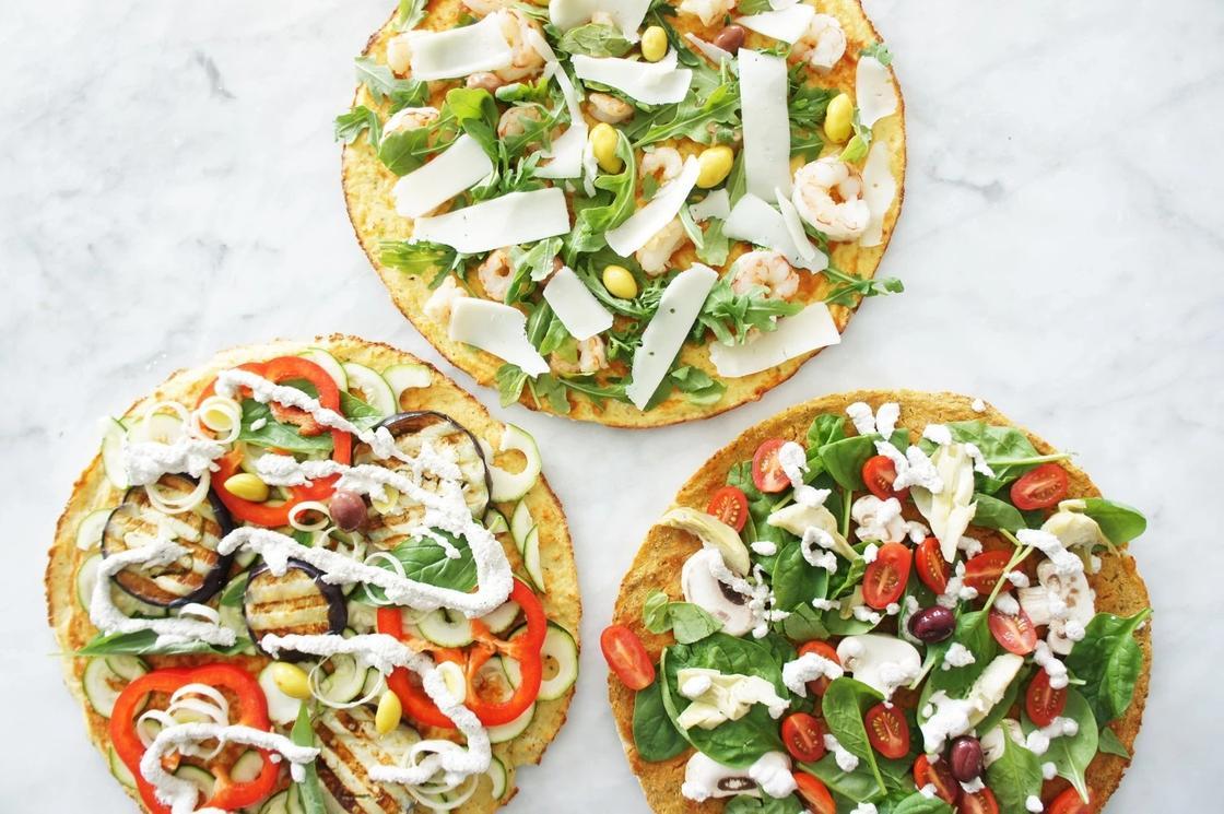 Пицца на основе из цветной капусты