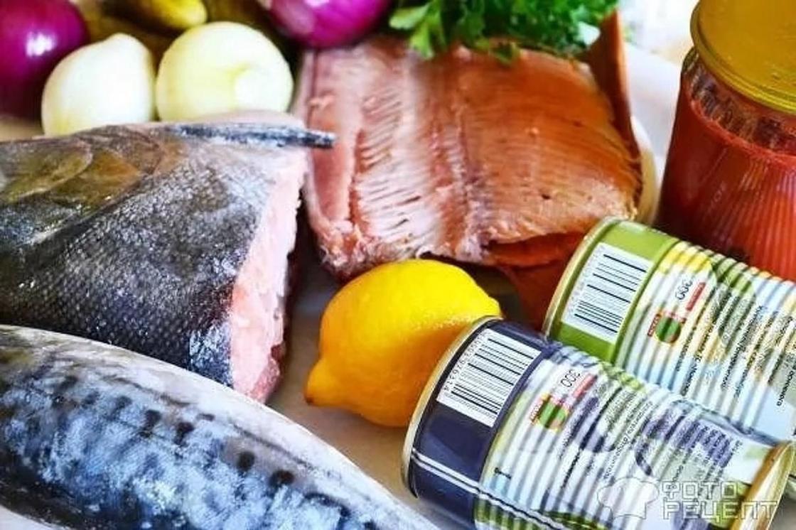 Рыбная солянка с копченой рыбой