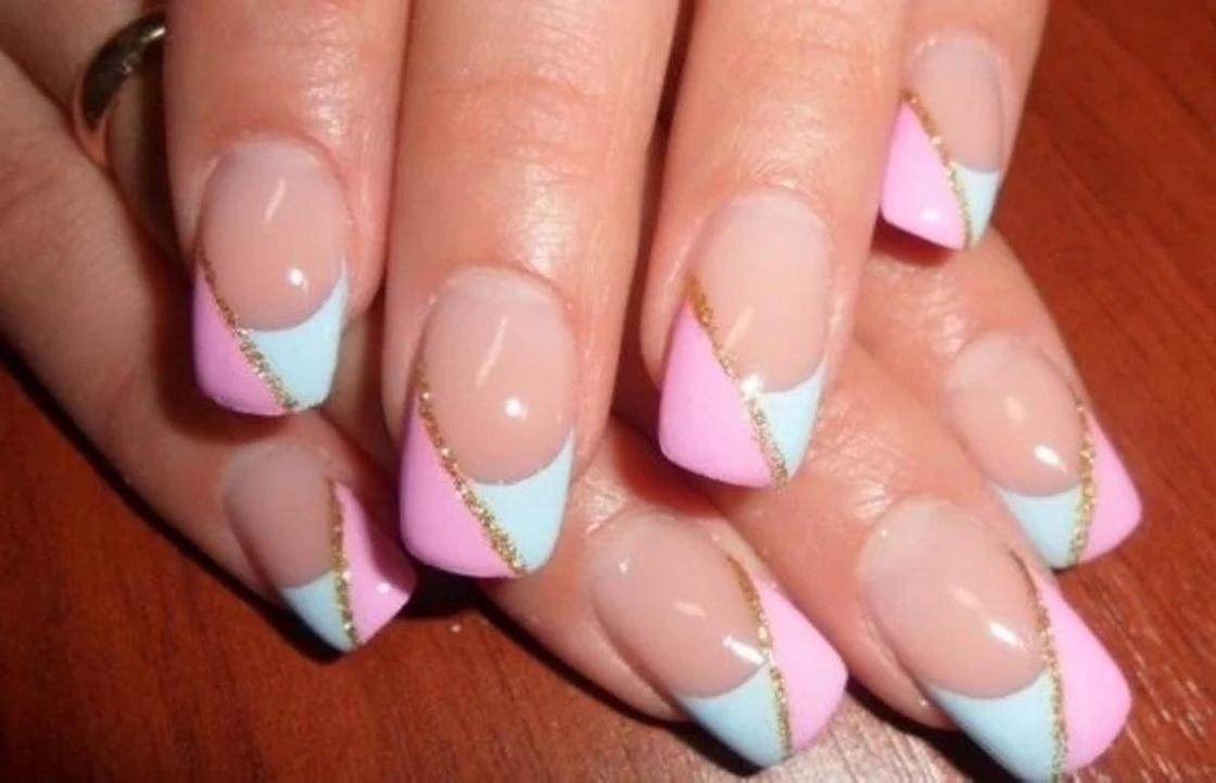 Френч на короткие ногти с дизайном