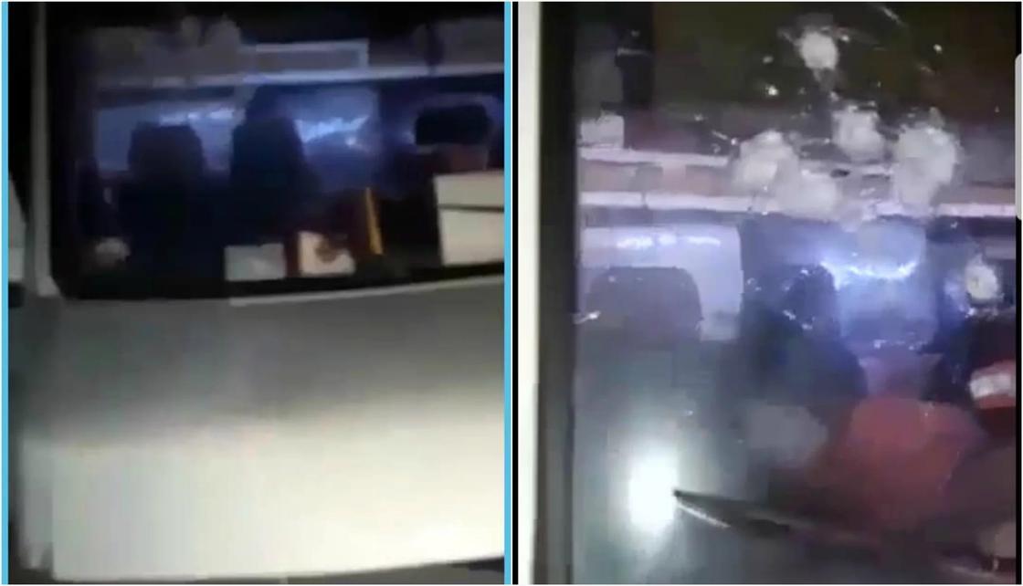 Микроавтобус с кыргызскими номерами обстреляли в Актюбинской области
