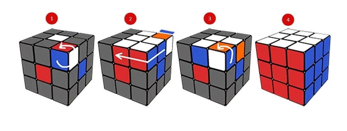 Сборка кубика Рубика: заключительный этап