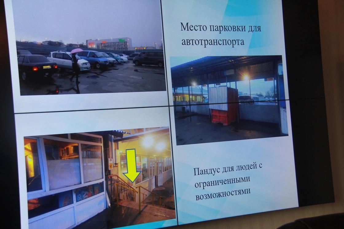 Слайды с нарушениями на автовокзалах