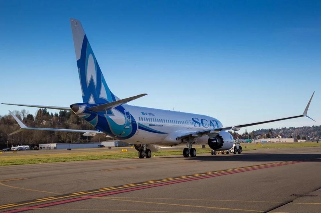 Новая ливрея SCAT на новом BOEING-737 MAX 8