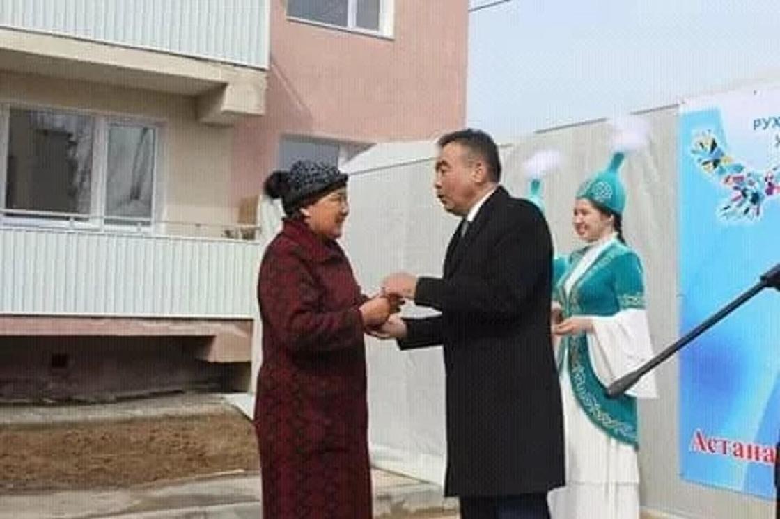 Алматы облысы: Ұлыстың ұлы күнінде 80 отбасы баспаналы болды. Фото: ҚазАқпарат