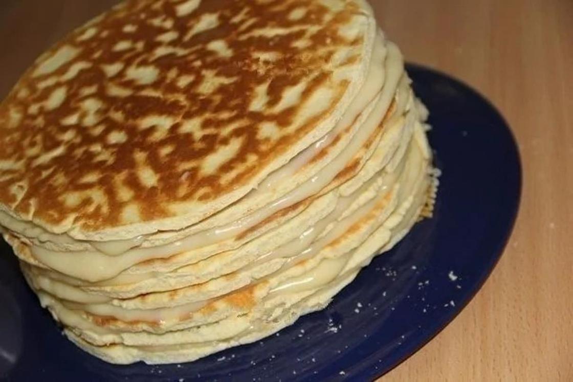 Торт на сковороде со сгущенкой: пошаговый рецепт