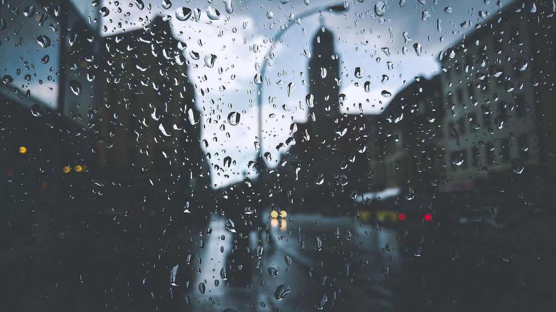 дождь город