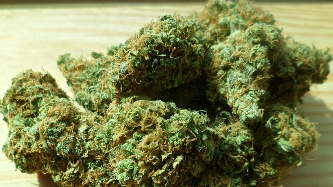 Наркотики лежат на столе