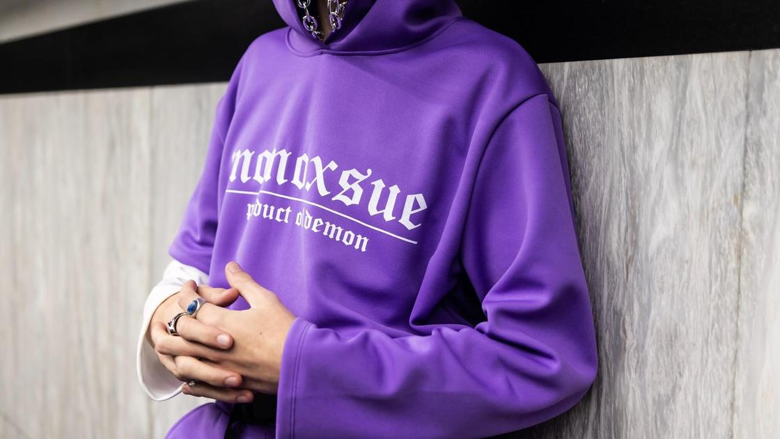 фиолетовый свитшот