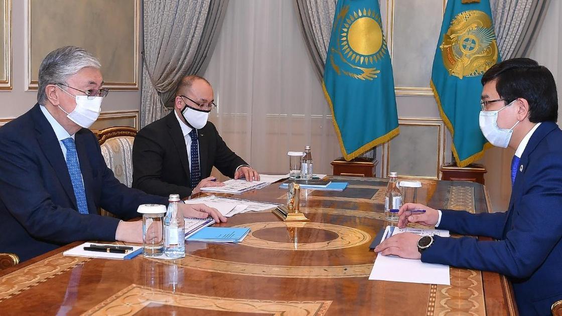 Касым-Жомарт Токаев и Асхат Аймагамбетов