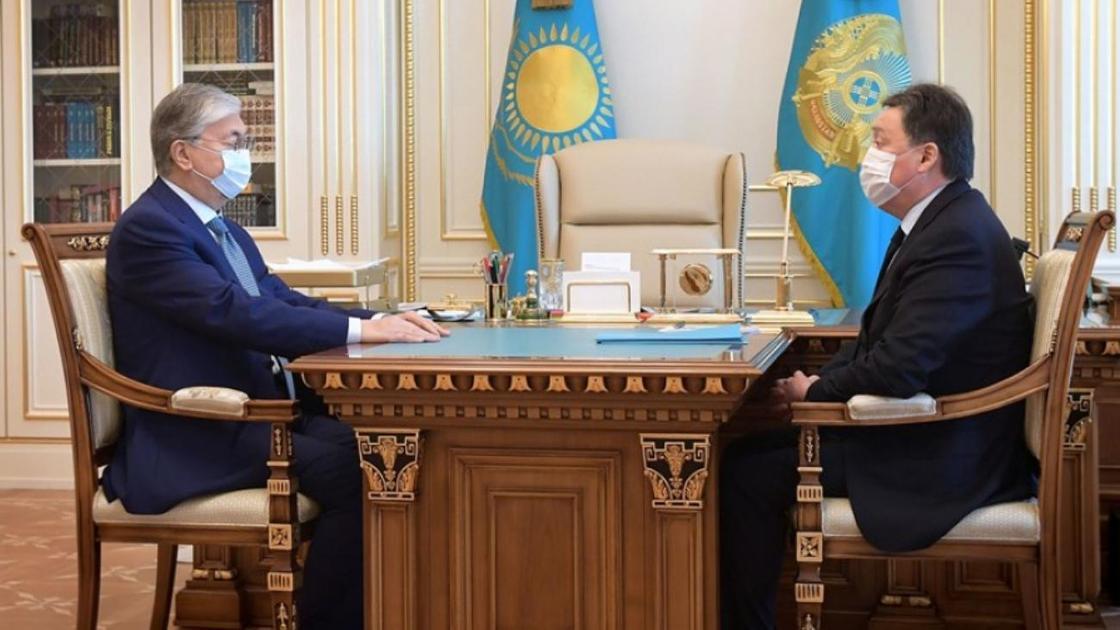 Қасым-Жомарт Тоқаев пен Асқар Мамин