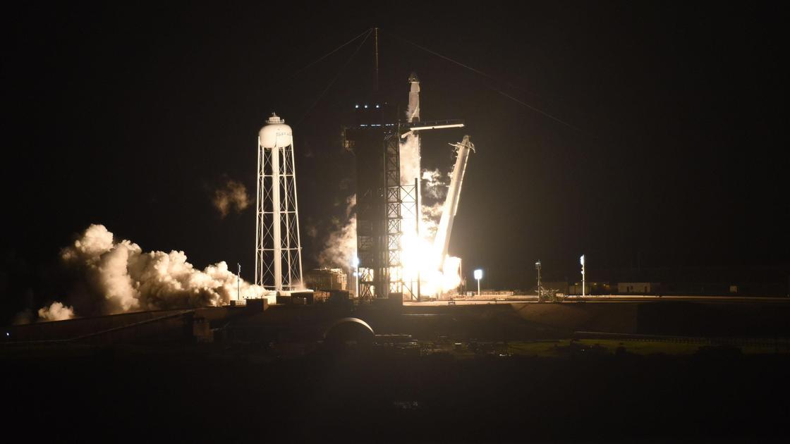Взлет ракеты SpaceX